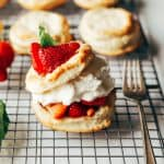 Cream biscuits filled with strawberries and whipped cream